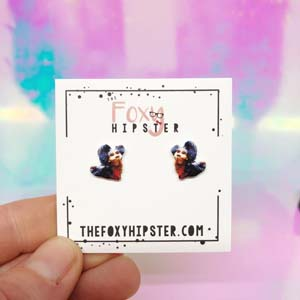 Ello Worm From Labyrinth Stud Earrings