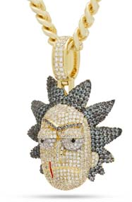 Evil Rick Necklace From King Ice