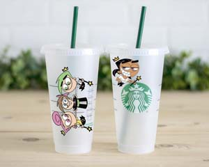 Fairly Odd Parents Custom Starbucks Cup