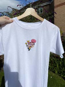 Fairly Odd Parents Hand Embroidered T Shirt
