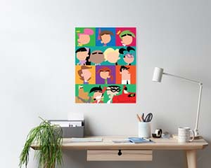 Fairly Odd Parents Minimalist Characters Poster
