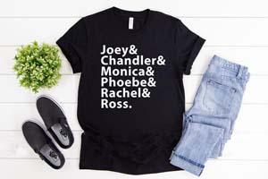 Friends Character Shirts Names
