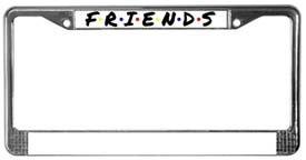 Friends Chrome License Plate