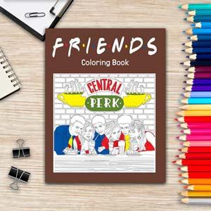 Friends Coloring Book Adults American Tv Sitcom