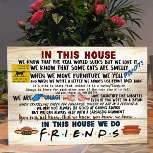Friends Quotes Plaque Tv Show Reference
