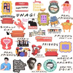 Friends Stickers For Bottles, Laptops, Phone, Etc