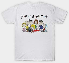 Friends T Shirt Snoopy Charlie Brown And Peanuts Friends