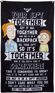 Get Your Shit Together Print Morty Quote Wall Banner