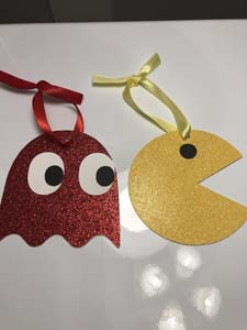 Ghost & Pac Man Ornaments