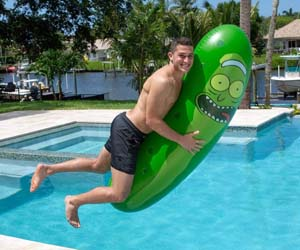 Giant Inflatable Pickle Rick Pool Float