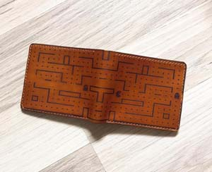 Handmade Leather Pac Man Wallet