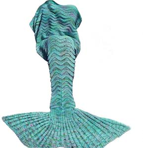 Handmade Mermaid Tail Blanket Crochet
