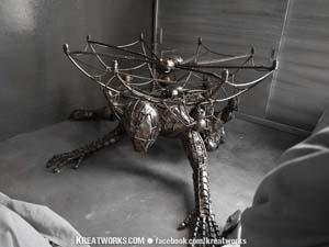 Handmade Spiderman Metal Table Base