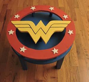Handmade Wonder Woman End Table