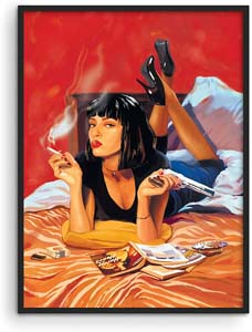 Haus And Hues Pulp Fiction Mia Wallace Poster