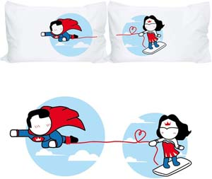 His And Hers Wonderwoman And Superman Pillow Cases