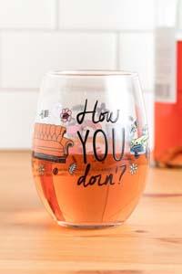 How You Doin Wine Glass