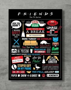 Iconic Friends Moments Poster