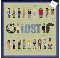 Lost Characters Cross Stitch Pattern