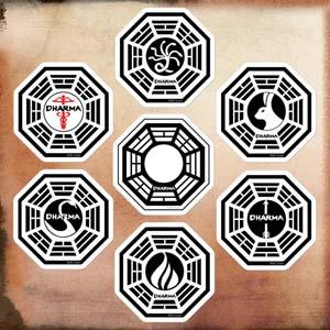 Lost Dharma Initiative Die Cut Stickers