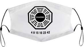 Lost Dharma Initiative Face Mask