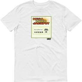 Lost Lottery Ticket Numbers T Shirt