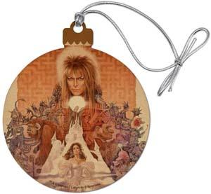 Labyrinth Movie Art Goblin King Wood Christmas Tree Holiday Ornament