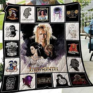 Labyrinth Movie Quotes Blanket