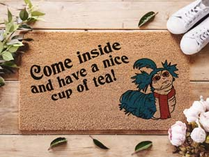 Labyrinth Welcome Mat – Come Inside And Have A Nice Cup Of Tea