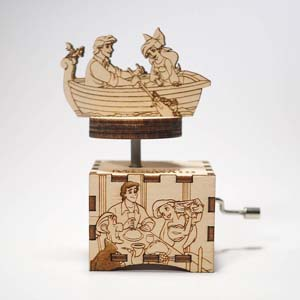Little Mermaid Music Box Part Of Your World Hand Cranked