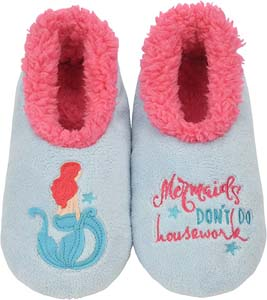 Little Mermaid Womens House Slippers