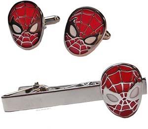 Marvel Comics Spiderman Cufflinks & Tie Clip