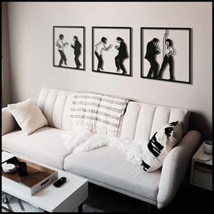 Metal Pulp Fiction Wall Art Set