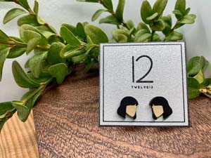 Mia Minimalist Wood Earrings