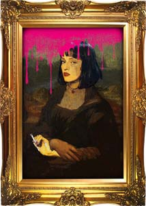 Mia Wallace As Mona Lisa Pulp Fiction Print