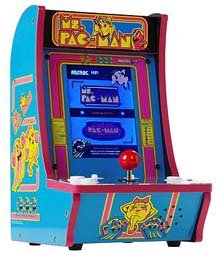 Mini Arcade With Pac Man And Ms. Pac Man
