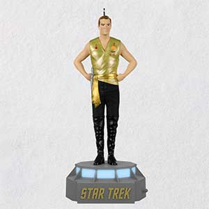 Mirror Collection Captain James T Kirk Ornament With Light And Sound