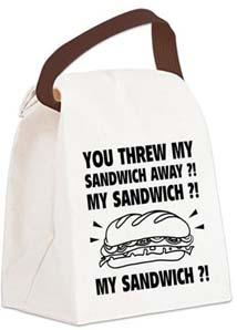 My Sandwich Canvas Lunch Bag