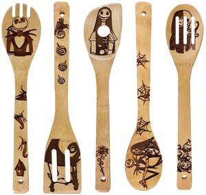 Nightmare Kitchen Pattern Burned Wooden Spoons