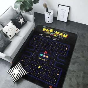 Non Slip Pac Man Area Rug