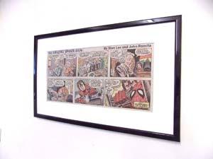 Original Spider Man Comic Mounted