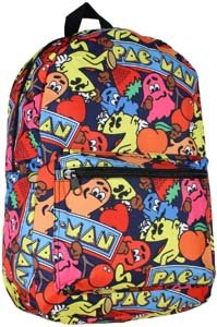 Pac Man Characters All Over Scene Backpack