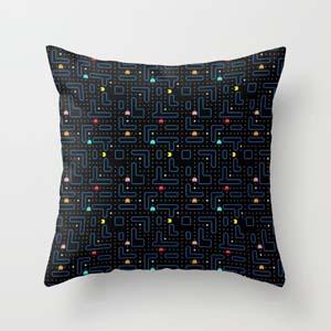 Pac Man Retro Throw Pillow