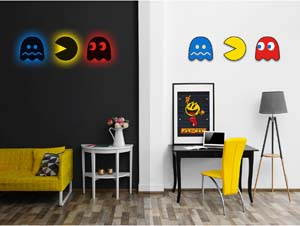 Pac Man Silhouette Light