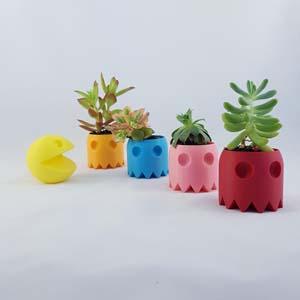 Pac Man Succulent Planter Set
