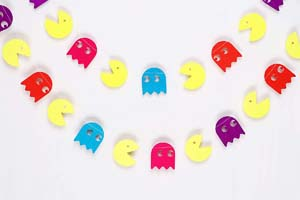Pacman Ghost Garland Birthday Decorations