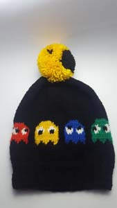 Pacman Hand Knitted Cap