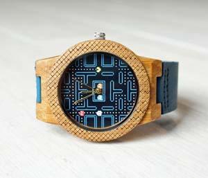 Pacman Wooden Watch