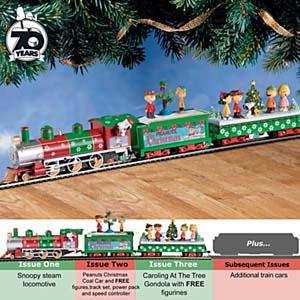 Peanuts Illuminated Electric Christmas Train