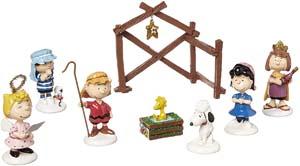 Peanuts Pageant Figurines (set Of 8)